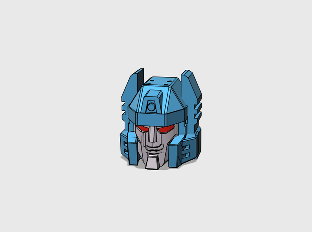 Twin-Cockpit Dueller's Face IDW G1 style in Frosted Ultra Detail