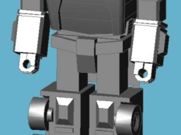 Scamper Minifigure 3d printed Completed figure, front view; assembled with toy-style head.