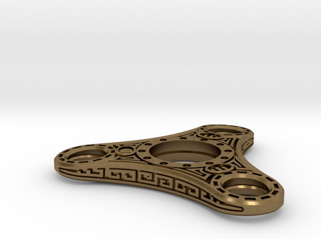 "Skyrim ""Dwemer"" style Fidget Spinner  - metal in Raw Bronze"