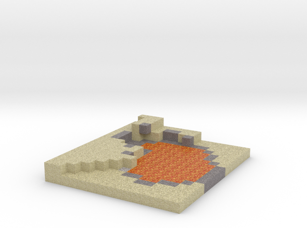Minecraft Desert Lake of fire in Full Color Sandstone
