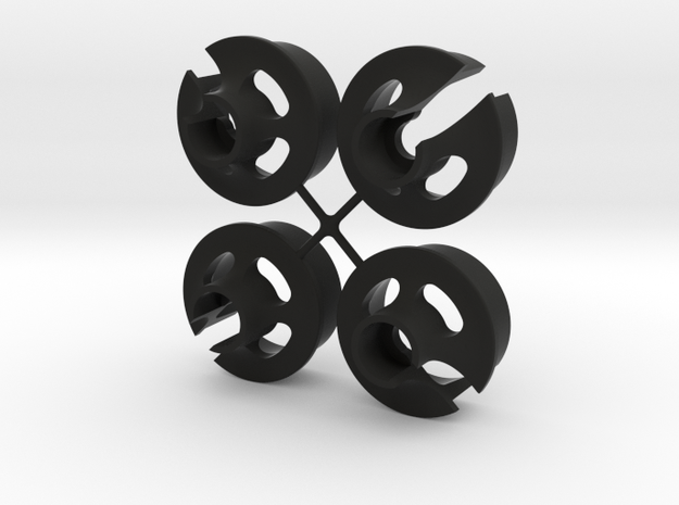 TLR Spring Cup V2 - x4 in Black Strong & Flexible