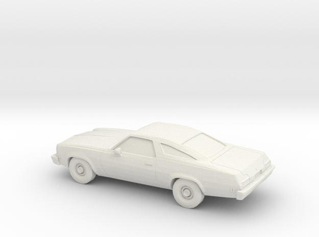 1/87 1974 Chevrolet Chevelle Coupe in White Natural Versatile Plastic