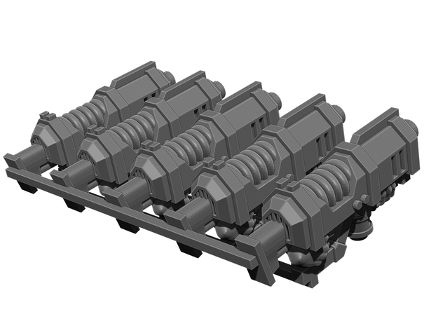 Plasma Rifle Weapons Pack in Smooth Fine Detail Plastic