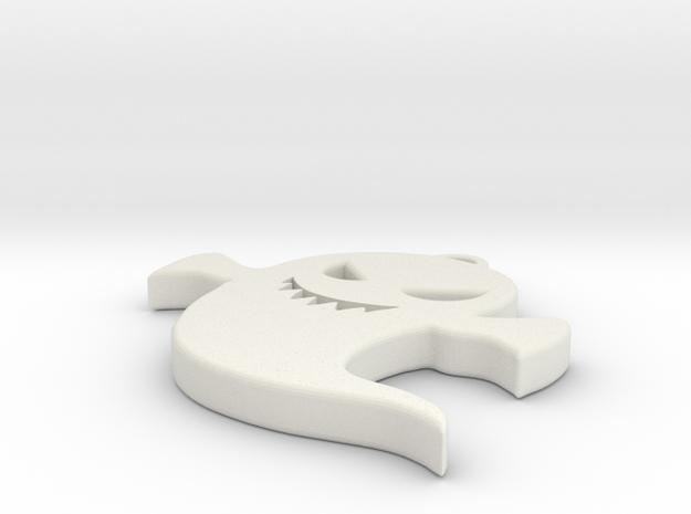 Ghost Earrings in White Natural Versatile Plastic