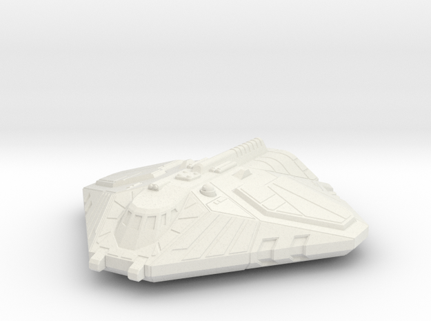 Cargo Shuttle, Flying in White Natural Versatile Plastic