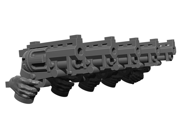 Revolver Pistol Weapons Pack in Smooth Fine Detail Plastic