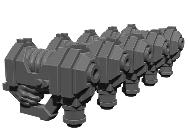Plasma Pistol Weapons Pack in Smooth Fine Detail Plastic