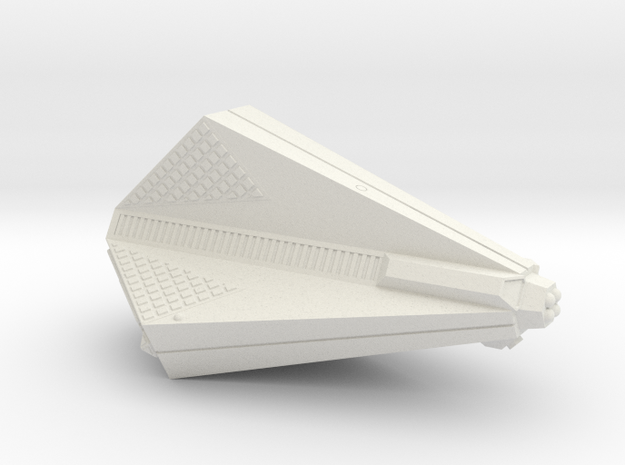 3125 Scale Tholian Destroyer (DD) SRZ in White Natural Versatile Plastic