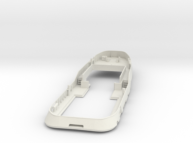 Main Deck & Bullwark 1/200 V56 fits Harbor Tug in White Strong & Flexible