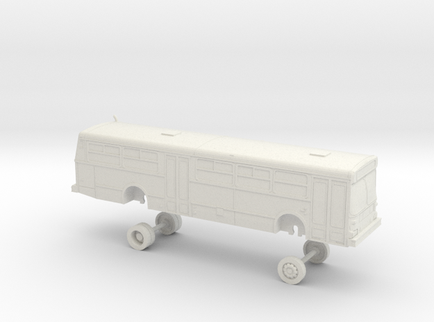 HO scale bus AC Transit D40 2500s in White Natural Versatile Plastic