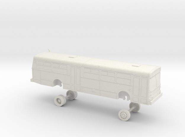 HO scale bus AC Transit D40 2500s in White Natural Versatile Plastic