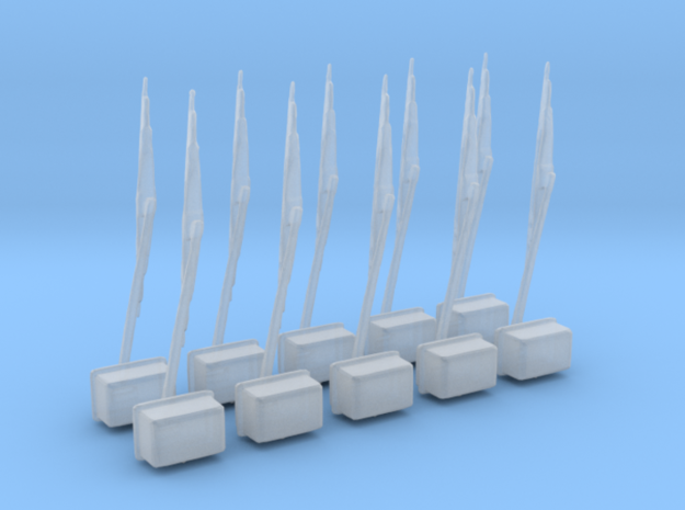 1/48 USN Windshield Windscreen Wiper Set in Smooth Fine Detail Plastic