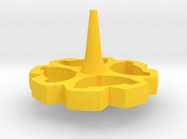 Flower Top in Yellow Processed Versatile Plastic