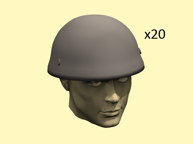 28mm WW2 British para helmets in Frosted Extreme Detail