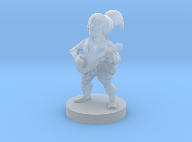 Halfling Female Bard in Smooth Fine Detail Plastic