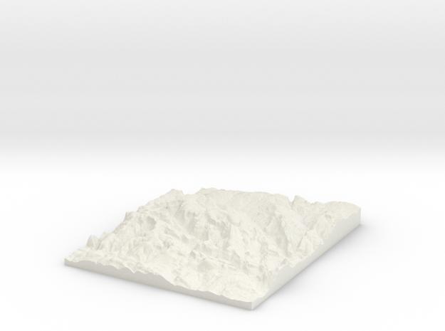 Rhondda W290 S185 E310 N210 in White Strong & Flexible