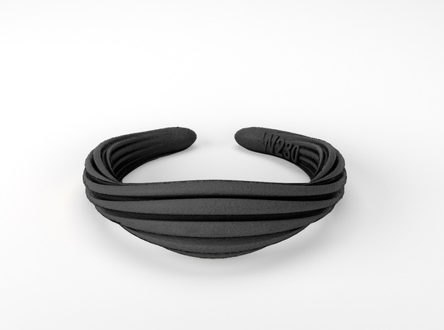 Wolly |  Ring in Polished Bronzed Silver Steel: 7 / 54