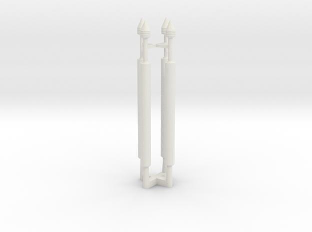 Gauntlet Darts in White Natural Versatile Plastic