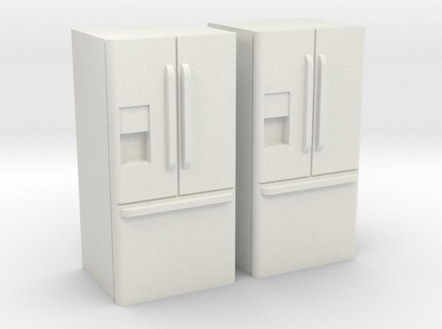 3-Door French Door Refrigerator 1-64 Scale in White Natural Versatile Plastic