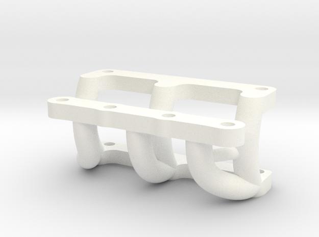 081008-01 KingCab Front Bumper Mount -Stock Bumper in White Processed Versatile Plastic