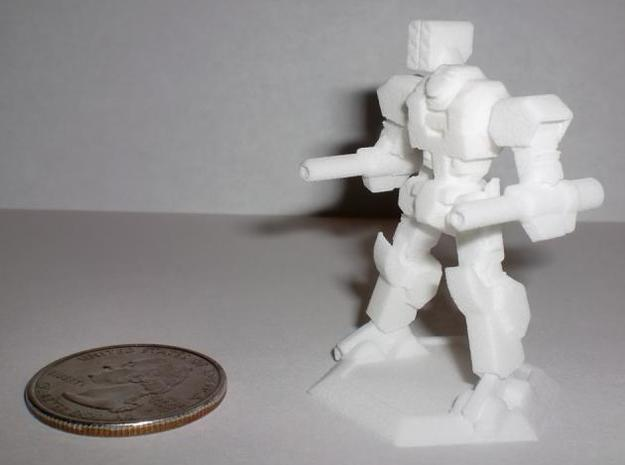 Mecha- Axe (1/285th) 3d printed WSF Printout