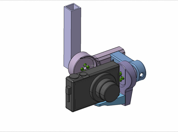Brushless Gimbal for Canon S100 and other compact  3d printed
