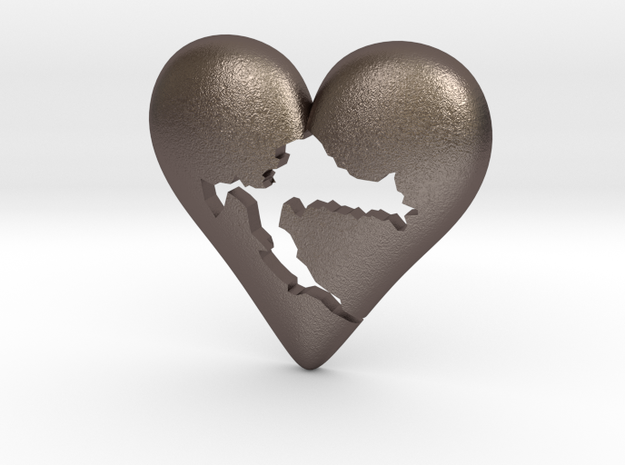 Croatia in Heart Pendant