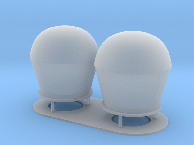 1:72 scale SatCom Dome Set 1 in Smooth Fine Detail Plastic