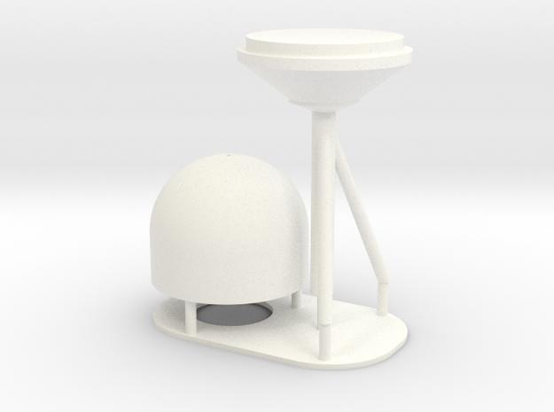 1:72 SatCom Dome Set 4 in White Processed Versatile Plastic
