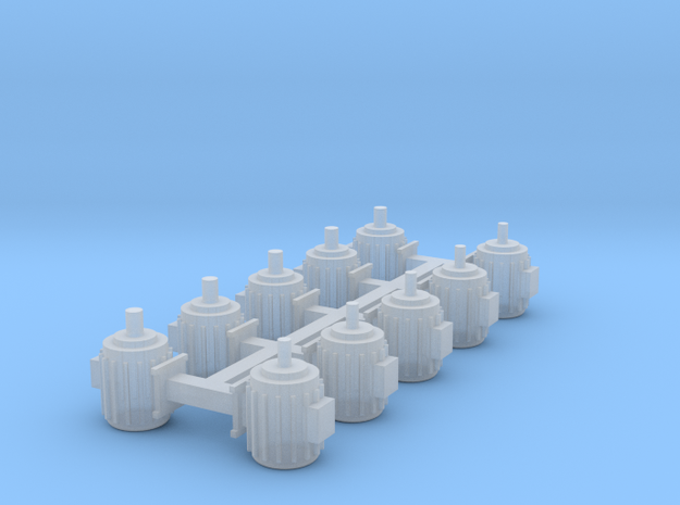 Elektromotoren Größe A 10er Set 1:120 in Smooth Fine Detail Plastic