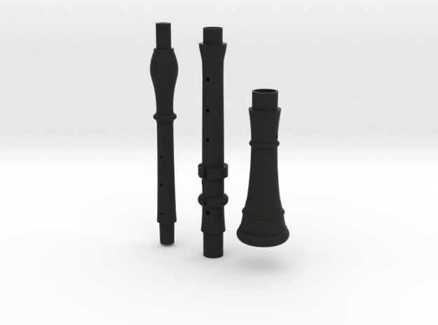 MIM2609 Rottenburgh baroque oboe - joints and bell in Black Natural Versatile Plastic