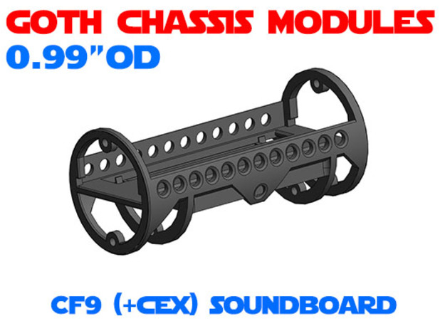 GCM099 - Crystal Focus 9 soundboard chassis in White Natural Versatile Plastic