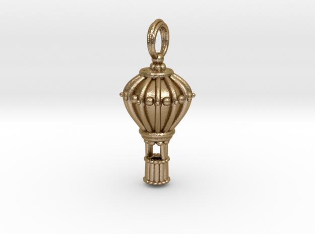Balloon Keepsake Charm Large in Polished Gold Steel