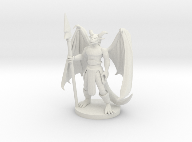 Dragonborn Sorcerer in White Natural Versatile Plastic