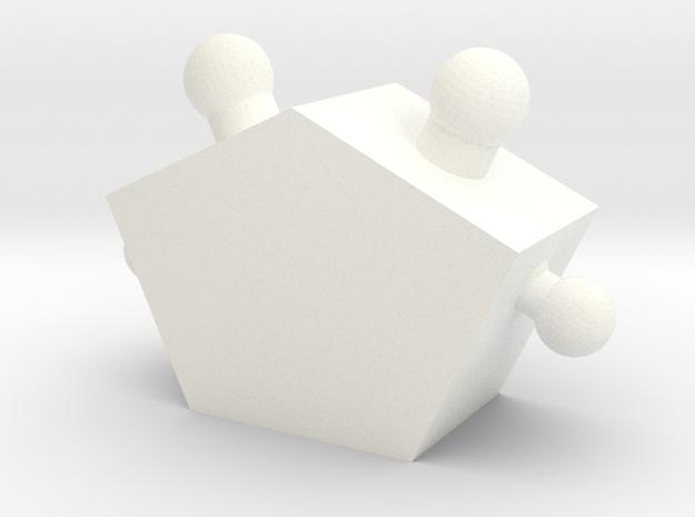 Twobad in White Processed Versatile Plastic