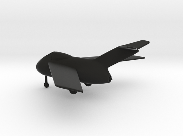 Focke-Wulf Ta 183 Huckebein in Black Natural Versatile Plastic: 1:144