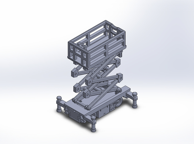 1/400 Scissor Lift version1 in Frosted Extreme Detail