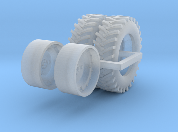 1 pair 1/64 5020 wheels and tires in Smooth Fine Detail Plastic