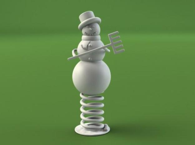 Snowman on Spring 3d printed Description