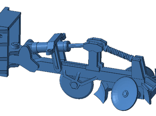 1/50th Fesco type Fire Plow for bulldozers etc in Smooth Fine Detail Plastic