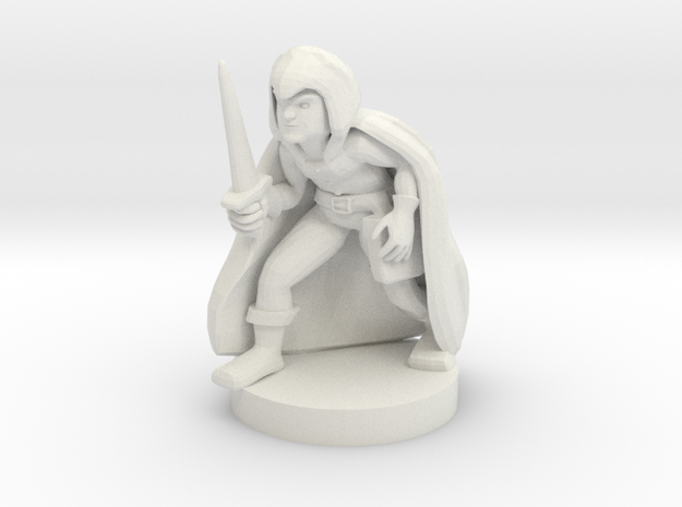 Halfling Male Rogue in White Natural Versatile Plastic