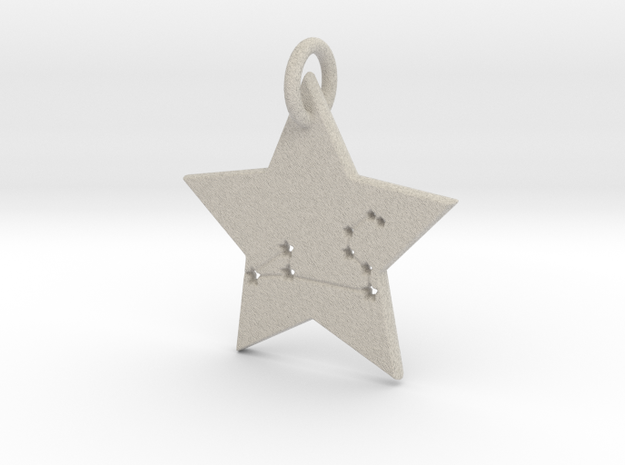 Leo Constellation Pendant in Natural Sandstone