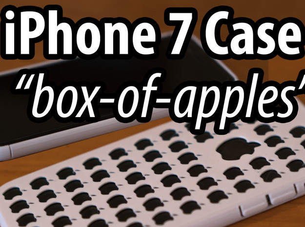 iPhone 7 Slim Case - Box of Apples in White Strong & Flexible