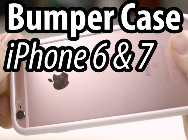 Slim Bumper for iPhone 7  in White Strong & Flexible