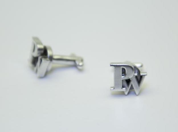 Custom cufflink nr.24 in Polished Silver