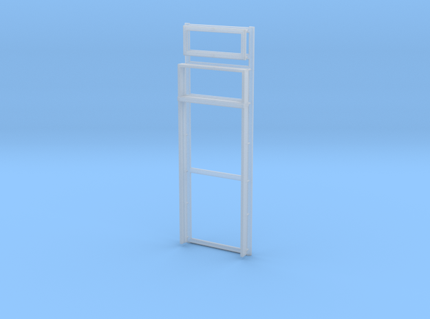 Door Frame with Transom Window 36x80-02 1/35 in Smooth Fine Detail Plastic