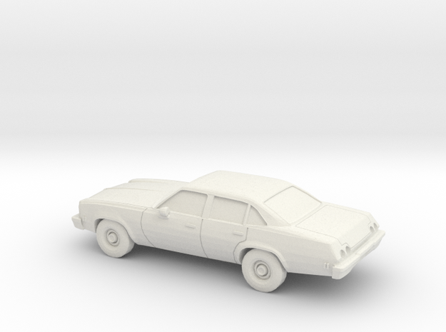 1/64 1973 Chevrolet Chevelle Sedan in White Natural Versatile Plastic