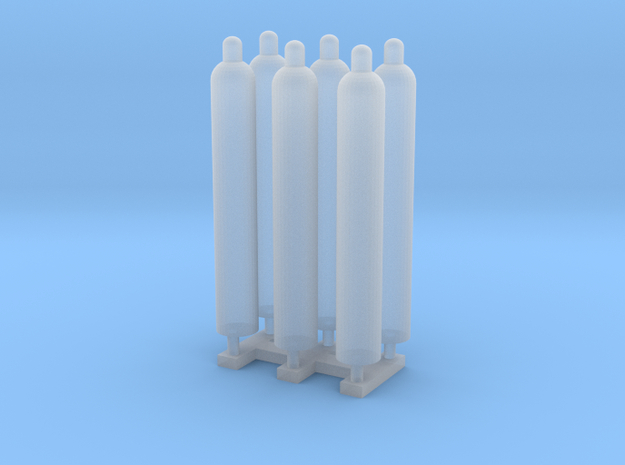 1:48 Gas Cylinders Pack of Six.