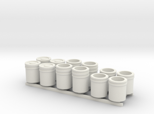 1:50 5 Gallon buckets Pack of Twelve.  in White Strong & Flexible
