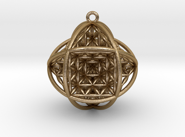 Ball Of Life Version 2 in Polished Gold Steel